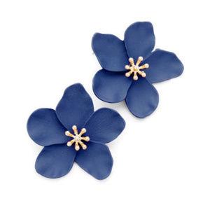 Fleur Earring Navy